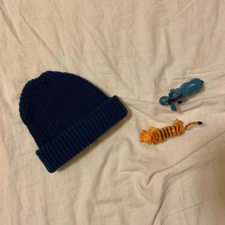 ニコアンド(niko and...)のニット帽(ネイビー)(ニット帽/ビーニー)