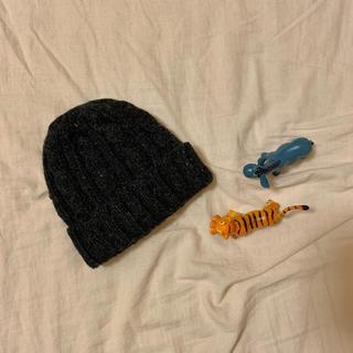 ニコアンド(niko and...)のウールニット帽(チャコール)(ニット帽/ビーニー)