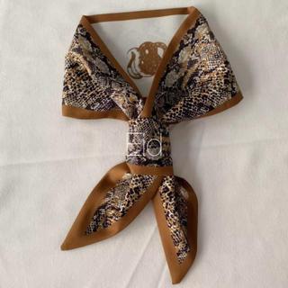 アメリヴィンテージ(Ameri VINTAGE)のPython tie scarf brown No.187(バンダナ/スカーフ)