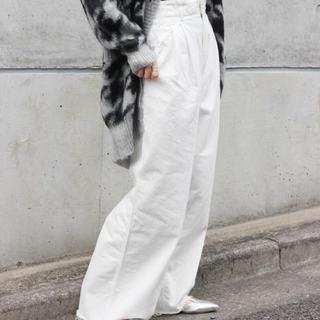 フレームワーク(FRAMeWORK)のフレームワーク デニム パンツ ワイド ホワイト ◆美品(デニム/ジーンズ)