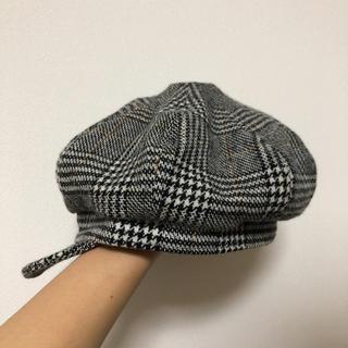 カシラ(CA4LA)のカシラ ハンチング チェック グレー(ハンチング/ベレー帽)