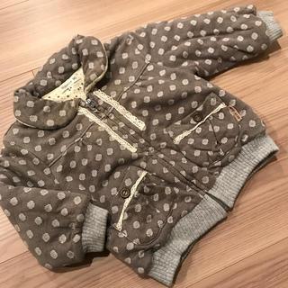 ビケット(Biquette)の女の子 コート 上着 アウター 90cm 中綿 グレー(コート)
