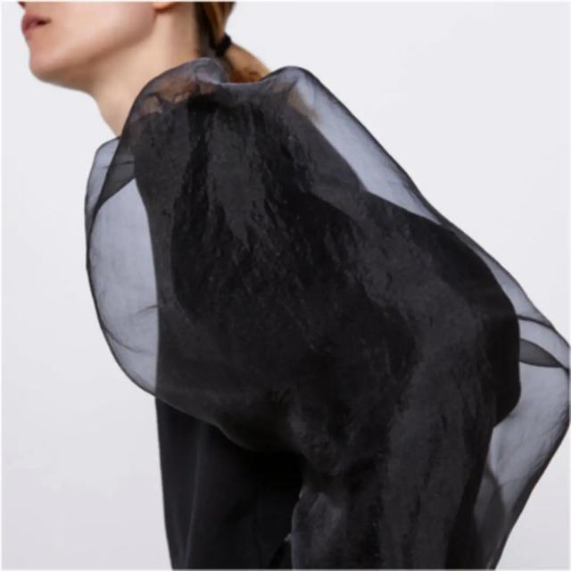 ZARA(ザラ)のザラ オーガンジー トップス レディースのトップス(シャツ/ブラウス(半袖/袖なし))の商品写真