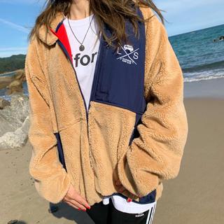 ロンハーマン(Ron Herman)の西海岸スタイル☆サーフバスフリースジャケット ブラウン ネイビー パタゴニア(ブルゾン)