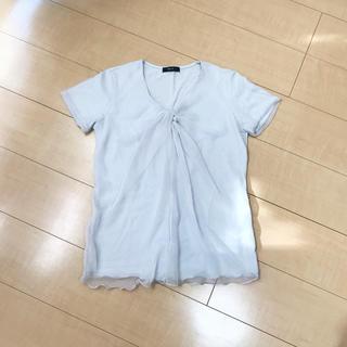 コムサイズム(COMME CA ISM)の《美品》COMME CA ISM  シフォンドッキング TEE(Tシャツ(半袖/袖なし))