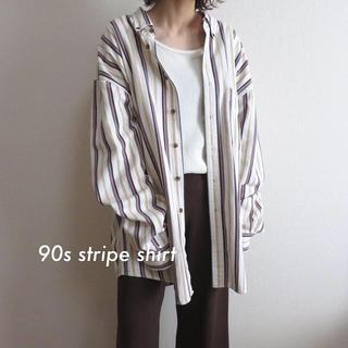 サンタモニカ(Santa Monica)の90s ADIRONDACK ビッグ ストライプシャツ BDシャツ マルチカラー(シャツ/ブラウス(長袖/七分))