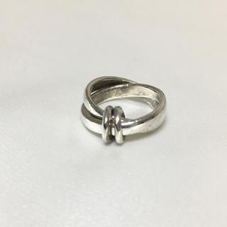シルバー リング silver  クロス 2連リング デピンキーリング(リング(指輪))