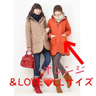 &LOVE  ブリティッシュフェミニンなリバーシブルコート オレンジ(その他)