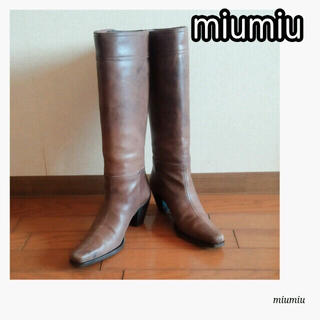 miumiu - 最終お値下げ!美品 miumiu ロングブーツ 36