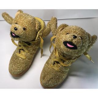 ジェレミースコット(JEREMY SCOTT)の未使用品 adidas JEREMY SCOTT 25.5cm クリスマス 熊(スニーカー)