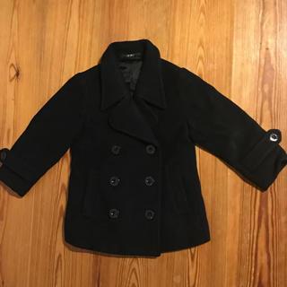 ロニィ(RONI)のRONI Pコート XS 90cm〜95cm 黒(コート)
