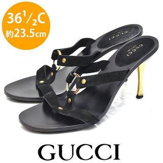 Gucci - グッチ スウェード リング サンダル 36 1/2C(約23.5cm)