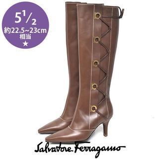 サルヴァトーレフェラガモ(Salvatore Ferragamo)の新品❤️フェラガモ クロス ロングブーツ 5 1/2(約22.5-23cm)(ブーツ)