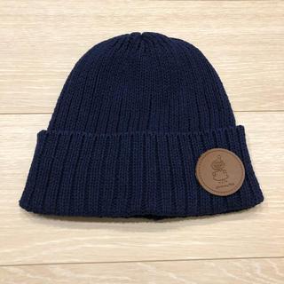サマンサモスモス(SM2)の新品タグ付き ムーミン リトルミイ ニット帽 ネイビー(ニット帽/ビーニー)