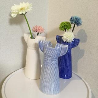 リサラーソン(Lisa Larson)のリサラーソン   ベースドレス(スカイブルー)  新品未使用タグ付 花びん 花瓶(花瓶)