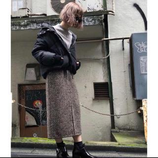 ページボーイ(PAGEBOY)のヒョウ柄起毛スカート(ひざ丈スカート)
