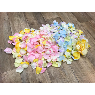 ウエディング💒造花の花びら🌼ピンク ブルー イエロー パープル グリーン(その他)