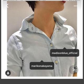 MADISONBLUE - マディソンブルー ハイカラーマダムシャツMADISON BLUE