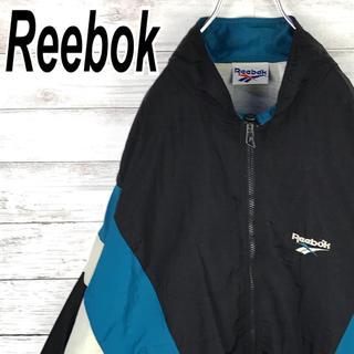 リーボック(Reebok)のリーボック ナイロン アームロゴ バックロゴ オーバーサイズ ゆるだぼ 90s(ナイロンジャケット)