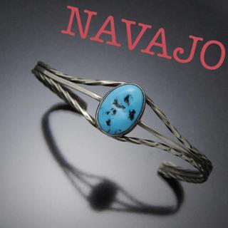 Indian - NAVAJO ターコイズ シルバーバングル