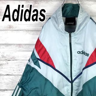 アディダス(adidas)のアディダス ナイロン レアカラー スリーライン ブルゾン オーバーサイズ 90s(ナイロンジャケット)