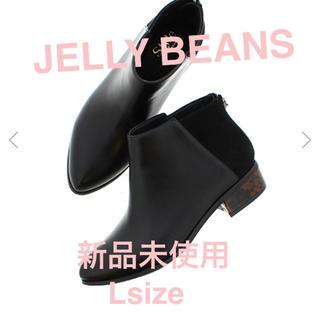 ジェリービーンズ(JELLY BEANS)のジェリービーンズ  新品未使用 べっ甲ヒールショートブーツ 黒 L(ブーツ)