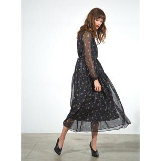COEL Shiny Flower Print Long Dress 完売品(ロングワンピース/マキシワンピース)