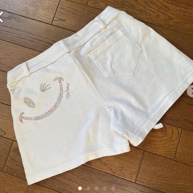 くるりん様専用❗️ミカノ ショートパンツ 白 スポーツ/アウトドアのトレーニング/エクササイズ(ヨガ)の商品写真