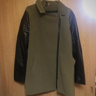H&M - 袖レザー★異素材ジャケット