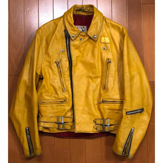 Lewis Leathers(ルイスレザー)のわこっちさん専用 スペシャル ルイスレザー 70s ライトニング イエロー メンズのジャケット/アウター(ライダースジャケット)の商品写真