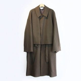 ジエダ(Jieda)のYOKE 3WAY BAL COLLAR SHARE COAT Olive(ステンカラーコート)