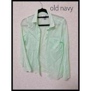 オールドネイビー(Old Navy)のold navy グリーンシャツ S(シャツ/ブラウス(長袖/七分))