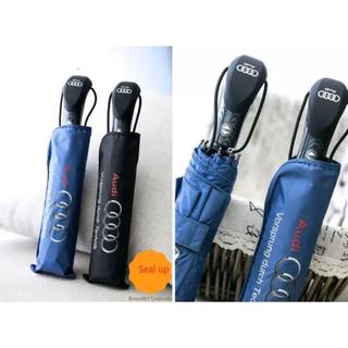 アウディ(AUDI)のアウディ Audi ロゴ ハイクオリティ 折りたたみ傘 青と黒のペア2本セット(傘)