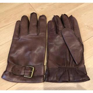 ポロラルフローレン(POLO RALPH LAUREN)のポロ ラルフローレン 手袋 グローブ メンズ レザー 革  Lサイズ(手袋)