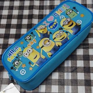 ミニオン(ミニオン)のミニオンズ ペンケース 筆箱 ペンポーチ カラー: ブルー(キャラクターグッズ)