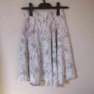 グリーンレーベルリラクシング(green label relaxing)の*美品*レーススカート(ひざ丈スカート)