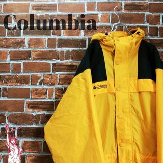 コロンビア(Columbia)の【イエロー】【ビッグサイズ】コロンビア☆刺繍ロゴ マウンテンパーカー(マウンテンパーカー)