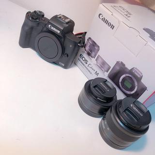 Canon - [5%引き]Canon EOS kissM ダブルレンズキット[BLACK]