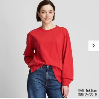 ユニクロ(UNIQLO)のコットンリラックスフィットT XL ユニクロ(Tシャツ(長袖/七分))