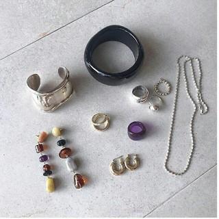 トゥデイフル(TODAYFUL)の【新品】'09AW完売TODAYFUL アクリルボリュームリング指輪 パープル(リング(指輪))