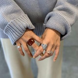 トゥデイフル(TODAYFUL)の【新品】'09AW完売TODAYFUL アクリルボリュームリング指輪 キャメル色(リング(指輪))