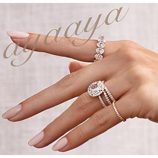 【新作】オーバル4.0ct  フルエタニティリング 最高級SONAダイヤモンド(リング(指輪))