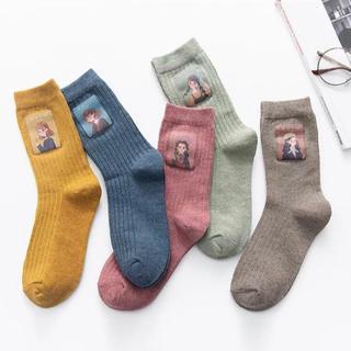 ウィゴー(WEGO)の靴下 韓国 原宿 秋 冬 古着 かわいい ソックス パナマボーイ(ソックス)