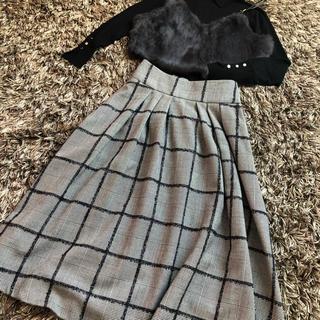 マリンフランセーズ(LA MARINE FRANCAISE)のモールグレンチェックスカート(ロングスカート)