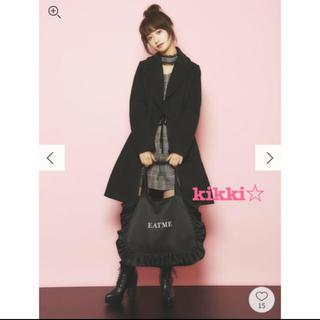 イートミー(EATME)の❤️【送料込】EATME 襟 フリル コート ブラック(ロングコート)