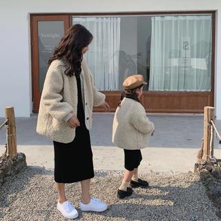 アーバンリサーチ(URBAN RESEARCH)の親子で着れる もこもこボアジャケット  おそろコーデ リンクコーデ(その他)