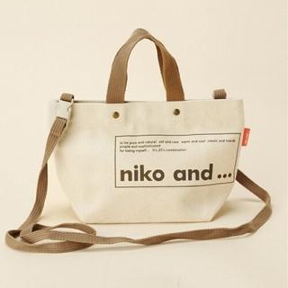 ニコアンド(niko and...)の☆新品☆niko and... ORNKロゴトート SDBAG ホワイト(トートバッグ)