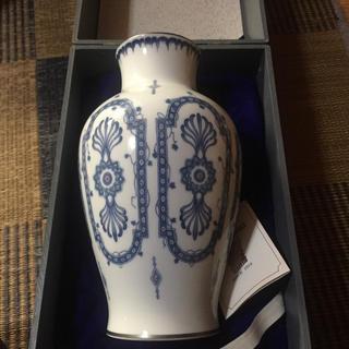 オクラ(OKURA)の大倉陶園 呉須絵 花瓶(花瓶)