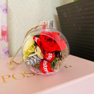 期間限定!お値下げ★ローズ&紫陽花入りボトルフラワー★ラッピング付き★プレゼント(ドライフラワー)