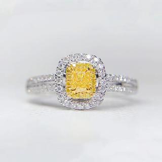 在庫処理イエローダイヤモンド指輪(リング(指輪))